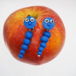 Červ modrý