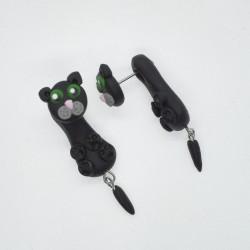 Kočka zelenooká černá mini