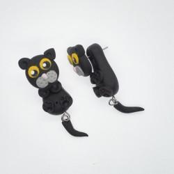 Kočka žlutooká černá